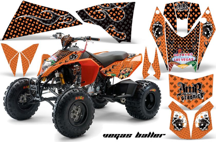 AMR RACING GRAPHICS KIT KTM QUAD 450/525 EXC XC DECALS