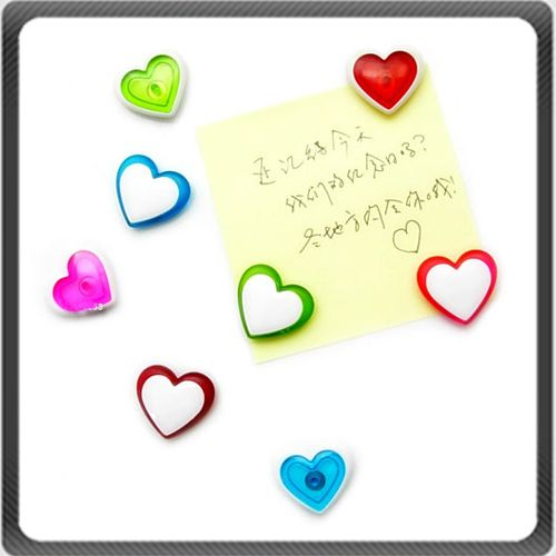 Mini Heart Love Refrigerator Fridge Magnets Plastic